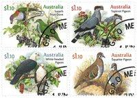 Australien - Duer - Stemplet sæt 4v