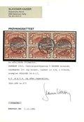 Danmark 1912 - 5 krone 6-blok AFA 67 med attest - Stemplet