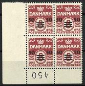 Færøerne - Marginal 4-blok AFA 5A - Postfrisk