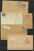 Færøerne - Kuverter med AFA 2A-6A - Stemplet