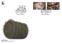 Norge - Gårdens dyr gris og kalv - Førstedagskuvert