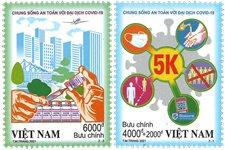 Vietnam - Kom sikkert gennem Covid - Postfrisk sæt 2v