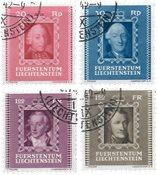 Liechtenstein 1942 - Michel 207/210 - Stemplet