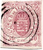 Luxemburg 1859 - Michel 9 - Stemplet