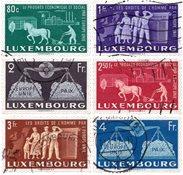Luxemburg 1951 - Michel 478/483 - Stemplet