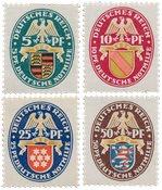 Tyskland - Tyske Rige 1926 - MICHEL 398/401 - Postfrisk