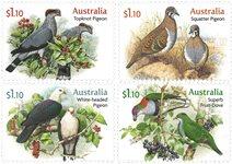 Australien - Duer - Postfrisk sæt 4v