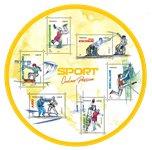 Frankrig - Sport - Postfrisk miniark