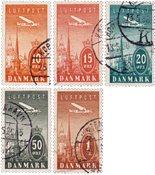 Danmark 1934 - AFA 216-20 - Stemplet