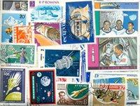 Spazio/trasporto - Lotto di doppi con più di 330 francobolli