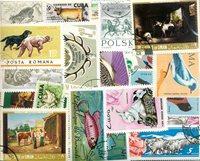 Dyr - 255 forskellige frimærker