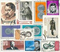 Berømte personer/Medaljer - 10 forskellige frimærker