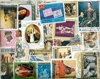 Arte ecc. - Lotto di doppi con circa 570 francobolli