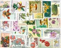 Blomster - 110 forskellige frimærker
