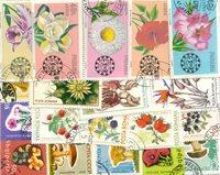 Blomster - 25 forskellige frimærker