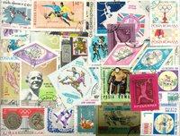 Sport - Lotto di doppi con più di 400 francobolli