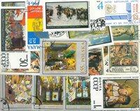 Kunst mm. - 60 forskellige frimærker