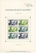 Frankrig - Antoine S.Exupery /Den lille Prins - Postfrisk miniark stålstik