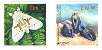 Irland - EUROPA 2021 Truet nationalt dyreliv - Postfrisk sæt 2v