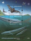 Azorerne - EUROPA 2021 Truet nationalt dyreliv - Postfrisk miniark