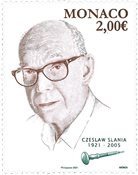 Monaco - Czeslaw Slania 100 år - Postfrisk frimærke
