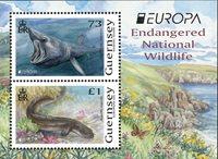 Guernsey - EUROPA 2021 Truet nationalt dyreliv - Postfrisk miniark