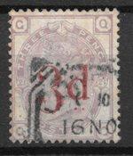 Englanti 1883 - AFA 70 - Leimattu