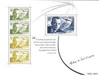 Frankrig - Antoine S.Exupery/Den lille Prins - Postfrisk miniark i folder. Oplag 8000 stk.
