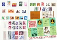 Sverige - Årsmappe 1978 - Postfrisk