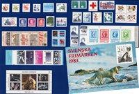 Sverige - Årsmappe 1983 - Postfrisk