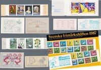 Sverige - Hæfteårsmappe 1987 - Postfrisk