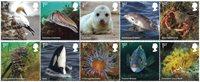 England - Kystens vilde dyreliv - Postfrisk sæt 10v