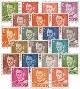 Danmark - 21 forskellige postfriske frimærker med Frederik IX