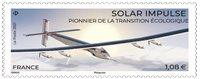 Frankrig - Solar Impulse flyet - Postfrisk frimærke