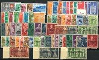Zwitserland - Collectie op 1 insteek kaart - Postfris