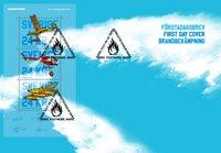 Sverige - Brandbekæmpelse fra luften - Førstedagskuvert med miniark
