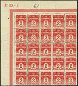 Danmark - 25-blok AFA 78A - Postfrisk