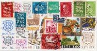 Estland - 25 forskellige frimærker