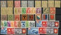 Zwitserland - Collectie op 1 insteek kaart - Postfris/ongebruikt