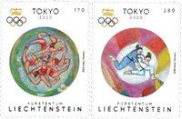 Liechtenstein - Olympiske lege Tokyo 2020 - Postfrisk sæt 2v