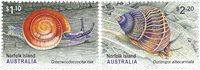 Norfolk Island - Snegle - Postfrisk sæt 2v