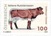 Østrig - Sjældne husdyr racer Jochberger Hummel - Postfrisk frimærke