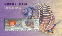 Norfolk Island - Snegle - Postfrisk miniark