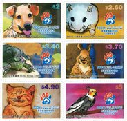 Hong Kong - Kæledyr - Postfrisk sæt 6v