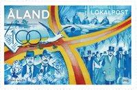 Åland - 100-året for Åland - Postfrisk frimærke
