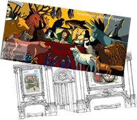 Frankrig - Jean Fontaine - Postfrisk miniark i folder