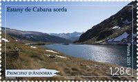 Fransk Andorra - Estany de Gabana - Postfrisk frimærke