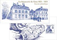 Frankrig - Fajancevase - Postfrisk miniark i folder