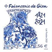 Frankrig - Fajancevase - Postfrisk frimærke