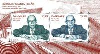 Danmark - Cz. Slania 100 år - Postfrisk miniark